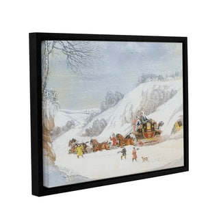 James Pollard's 'A Mail In Deep Snow, Engraved By George Hunt' Gallery Wrapped Floater-framed Canvas