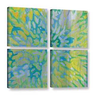 Charlotte Johnstone's 'Acrapora, 2000' Gallery 4 Piece Gallery Wrapped Canvas Square Set