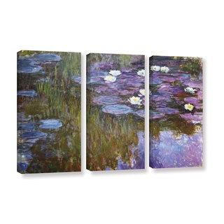 Claude Monet's 'Water Lilies, 1919-20' Gallery 3 Piece Gallery Wrapped Canvas Set