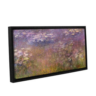 Claude Monet's 'Water Lilies (Agapanthus) 1915-26' Gallery Wrapped Floater-framed Canvas