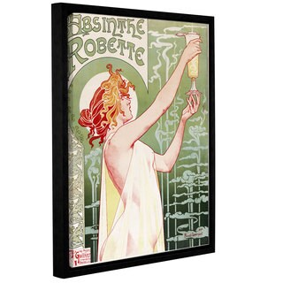 Privat Livemont's 'Absinthe Robette Poster' Gallery Wrapped Floater-framed Canvas