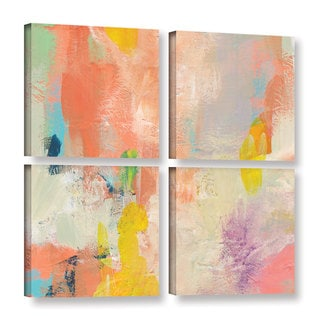Jan Weiss's 'Beyond the Line 1' Gallery 4 Piece Gallery Wrapped Canvas Square Set