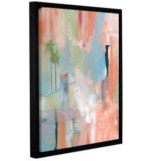 Jan Weiss's 'Desert Living 1' Gallery Wrapped Floater-framed Canvas