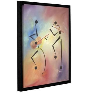 Ikahl Beckford's 'Flutina' Gallery Wrapped Floater-framed Canvas