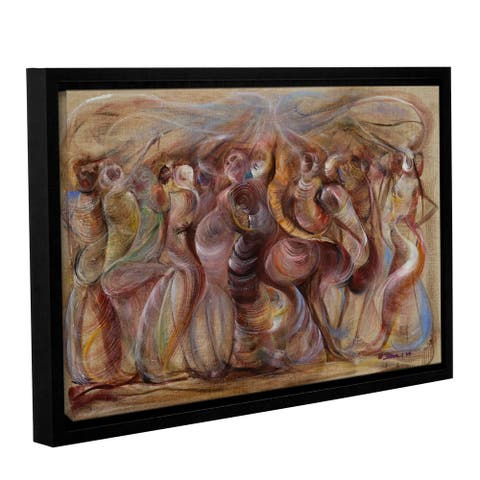 Ikahl Beckford's 'Storming' Gallery Wrapped Floater-framed Canvas