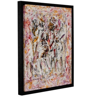 Ikahl Beckford's 'Come On Out' Gallery Wrapped Floater-framed Canvas