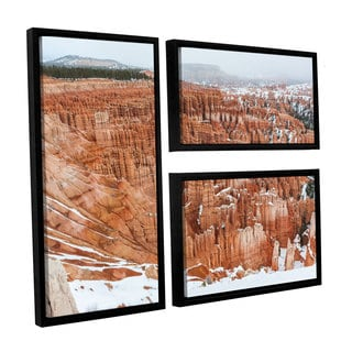 Cody York's 'Bryce Canyon ' 3 Piece Floater Framed Canvas Flag Set
