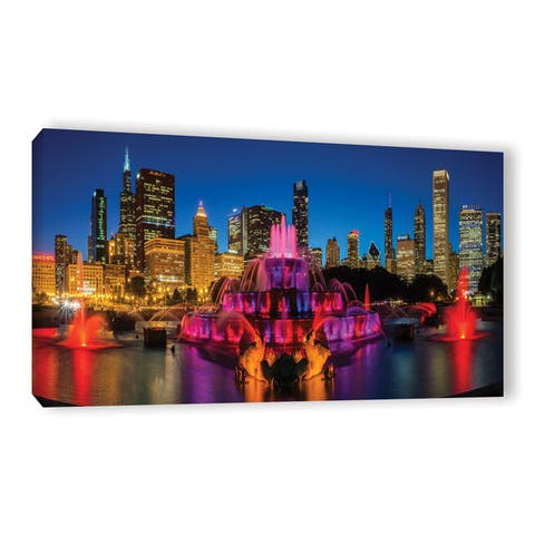 Cody York's 'Chicago Skyline and Buckingham Fountain ' Gallery Wrapped Canvas