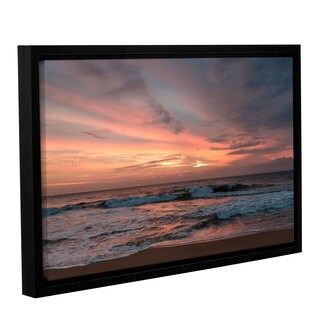 Andrew Lever's 'Sri Lankan Sunset' Gallery Wrapped Floater-framed Canvas