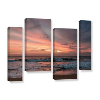 Andrew Lever's 'Sri Lankan Sunset' 4 Piece Gallery Wrapped Canvas Staggered Set