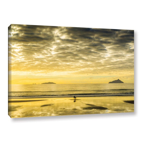 Andrew Lever's 'Golden Morning' Gallery Wrapped Canvas - Multi