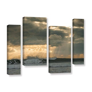 Andrew Lever's 'After Storm Lighting' 4 Piece Gallery Wrapped Canvas Staggered Set
