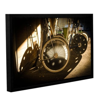 Andrew Lever's 'Wheels of Racing Chariots' Gallery Wrapped Floater-framed Canvas