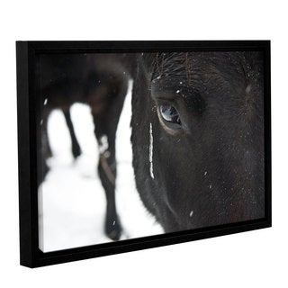 Andrew Lever's 'Blackhorse1' Gallery Wrapped Floater-framed Canvas