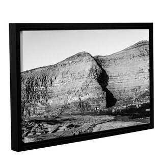 Andrew Lever's 'Cave in Rock Wall' Gallery Wrapped Floater-framed Canvas