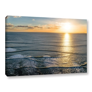 Andrew Lever's 'Sun Shining Ripples' Gallery Wrapped Canvas