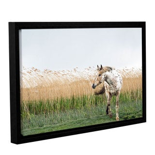 Andrew Lever's 'Horse and High Grass ' Gallery Wrapped Floater-framed Canvas