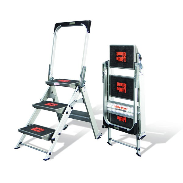Shop Little Giant Aluminum 3 Step Safety Step Ladder