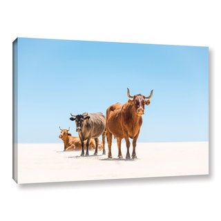 Andrew Lever's 'Bulls in the Desert' Gallery Wrapped Canvas