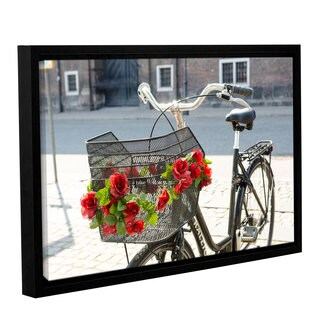 Andrew Lever's 'Bike Attitude' Gallery Wrapped Floater-framed Canvas