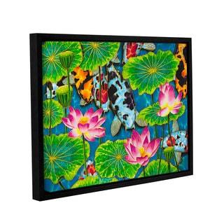 Daniel Jean-Baptiste's 'Koi & Lotus' Gallery Wrapped Floater-framed Canvas