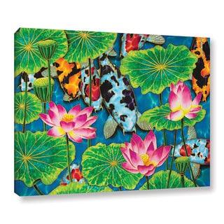 Daniel Jean-Baptiste's 'Koi & Lotus' Gallery Wrapped Canvas