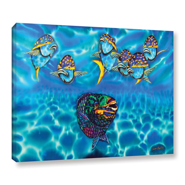 Daniel Jean-Baptiste's 'Parrotfish ' Gallery Wrapped Canvas