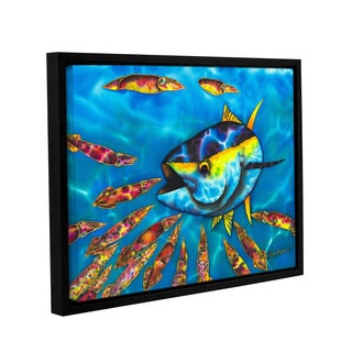 Daniel Jean-Baptiste's 'Tuna & Squid' Gallery Wrapped Floater-framed Canvas