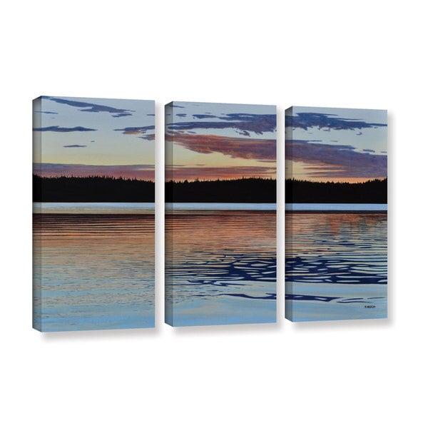 Ken Kirsh's 'Graham Lake ' 3 Piece Gallery Wrapped Canvas Set - Multi