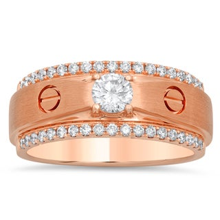 Artistry Collections Men's 18k Rose Gold 4/5-carat TDW Diamond Ring