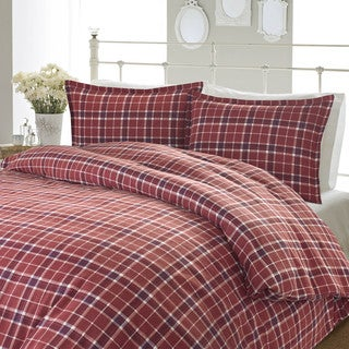 Laura Ashley Highland Check Flannel Duvet Cover Set