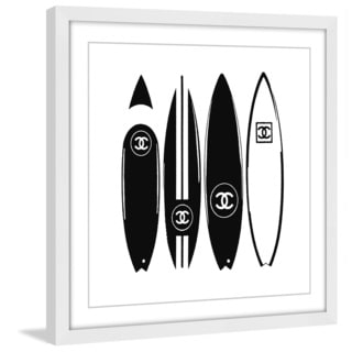 Marmont Hill 'V Chanel Surfboards' Framed Painting Print