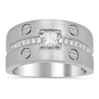 Artistry Collections Men's 18k White Gold 1/2ct TDW Diamond Ring