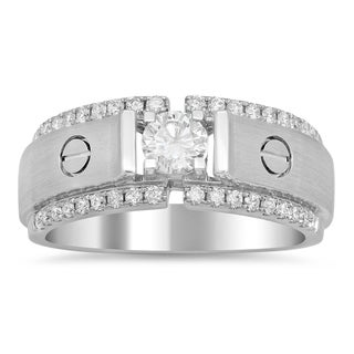 Artistry Collections Men's 18k White Gold 4/5ct TDW Diamond Ring