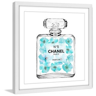 Marmont Hill 'Chanel Aquamarine' Framed Painting Print