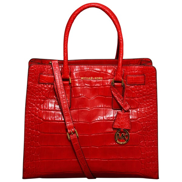 adc014843630 Shop Michael Kors Large Dillon Chili North/South Tote Bag - Free Shipping  Today - Overstock - 12021086