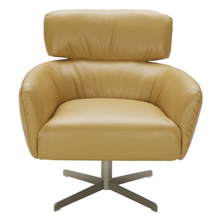 LumiSource Hartman Solid-colored Faux-leather Accent Chair