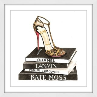 Marmont Hill 'Chanel Lbtn Shoe' Framed Painting Print