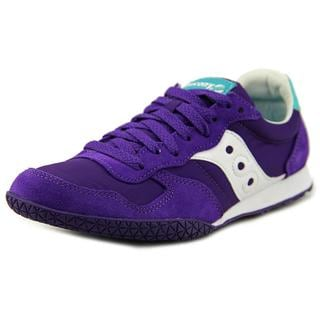 Saucony Women's Bullet Purple Nylon Athletic Round-toe Running Shoe