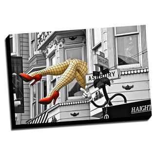 Picture It on Canvas Haight-Ashbury Street Color Splash Framed Ready to Hang Printed on Canvas