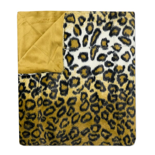 "Sweet Home Collection Leopard Print Plush Faux Fur Decorative Throw Blanket (50""x60"")"