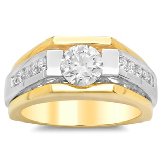 Artistry Collections 14k Two-tone Gold 2 1/6 ct TDW Diamond Men's Ring