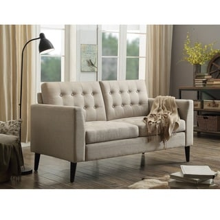Moser Bay Furniture Estrella Multicolor Polyester/Wood/Foam Tufted Loveseat