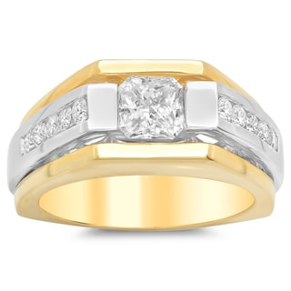 Artistry Collections 14k Two-tone Gold 2 1/6-ct TDW Diamond Men's Ring