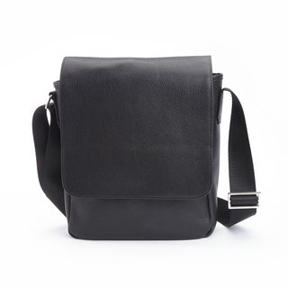 Royce Soft Pebbled Genuine Leather Luxury Handcrafted iPad Messenger Bag