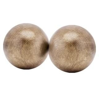 Hilos MD Brown 4-inch Sphere (Set of 2)