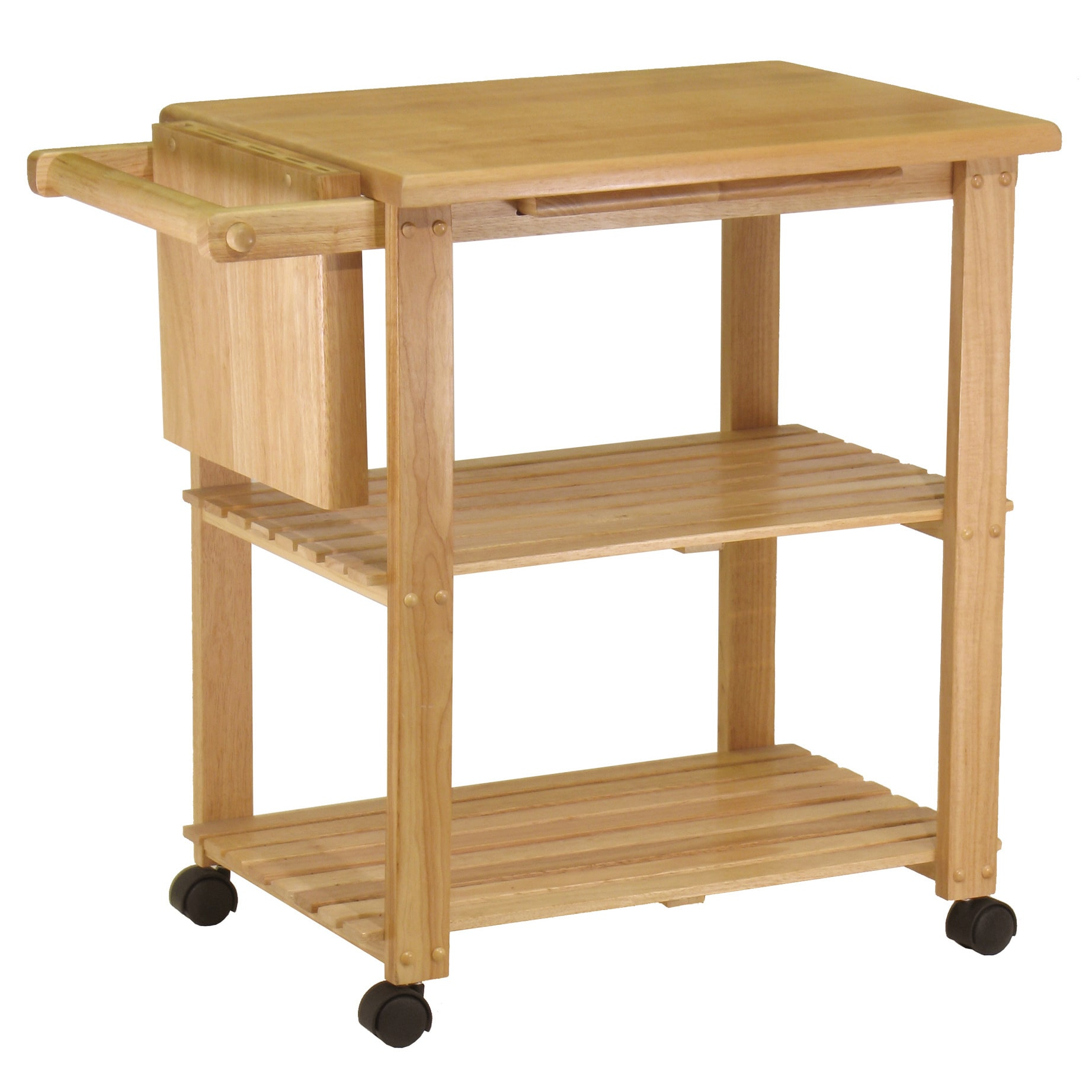 Winsome Wooden Storage Kitchen Utility Cart with Pull-out...