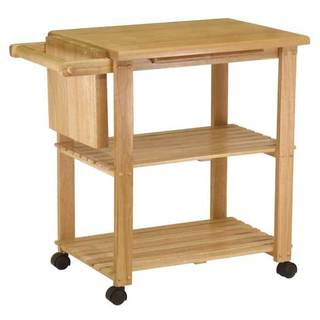 Charming Winsome Wooden Storage Kitchen Utility Cart With Pull Out Cutting Board