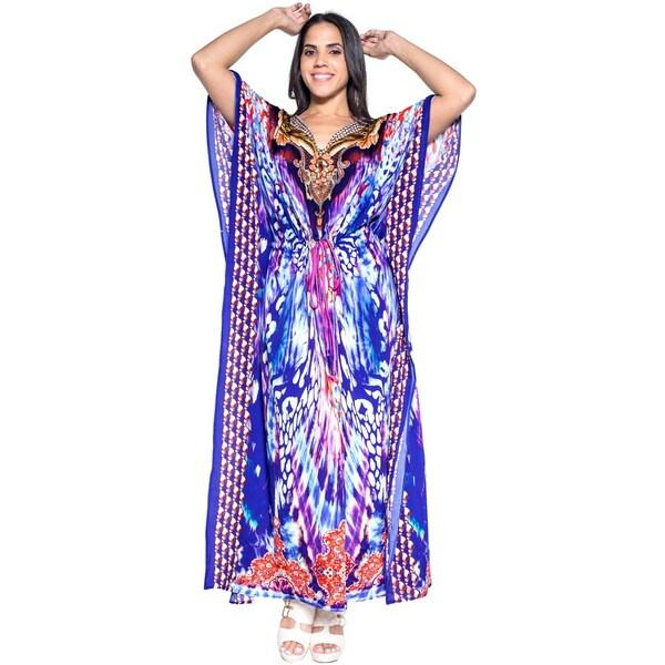 bd9c52c0cc Shop La Leela Soft Likre Traditional Art Beach Long Party Dress Maxi ...