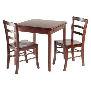 Winsome Pulman 3-piece Extension Dining Table Set with 2 Ladder-back Chairs